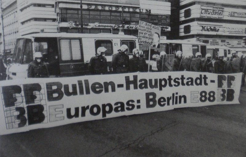 Cop Capital of Europe: Berlin, from Anti-IMF-World Bank protest week in September 1988, West Berlin