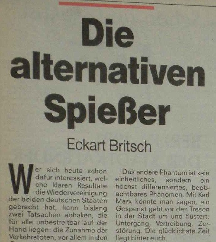 "Eckhart Britsch, ""Die alternative Spießer."""