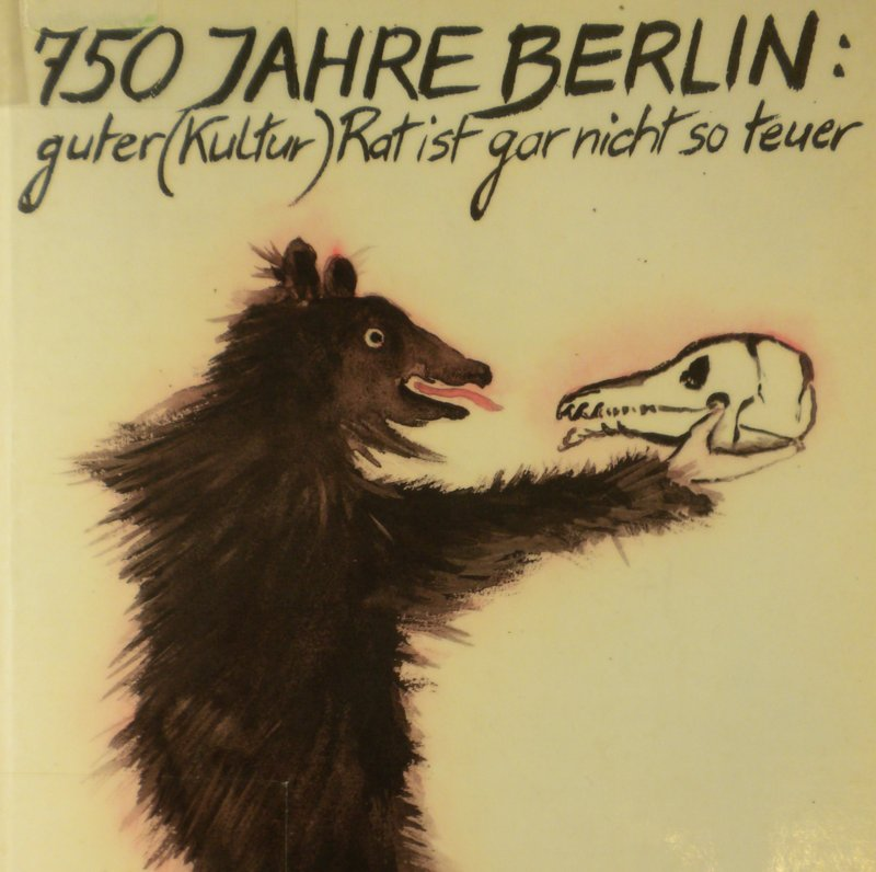 Kulturrat 1987, Culture guide for West Berlin's 750th Anniversary Celebration